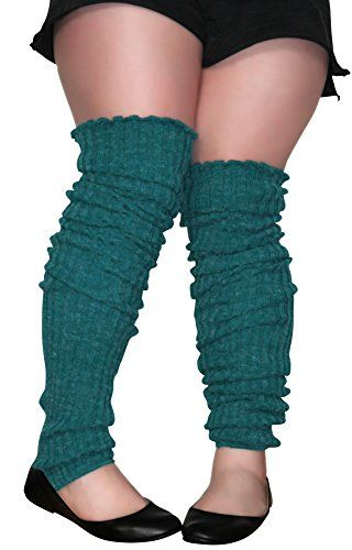 Plus Size Leg Warmers Thigh High Over The Knee Super Long ...