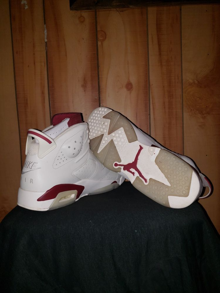 61116630d5132a Nike Air Jordan 6 Retro VI 2015 Off white New Maroon mens Size 11  fashion   clothing  shoes  accessories  mensshoes  athleticshoes (ebay link)