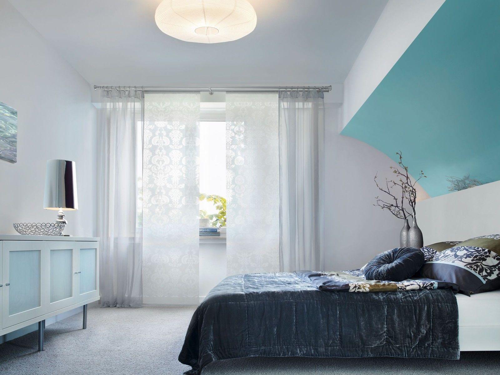 Schiebevorhang Flächenvorhang Vorhang Ornament Weiß Braun