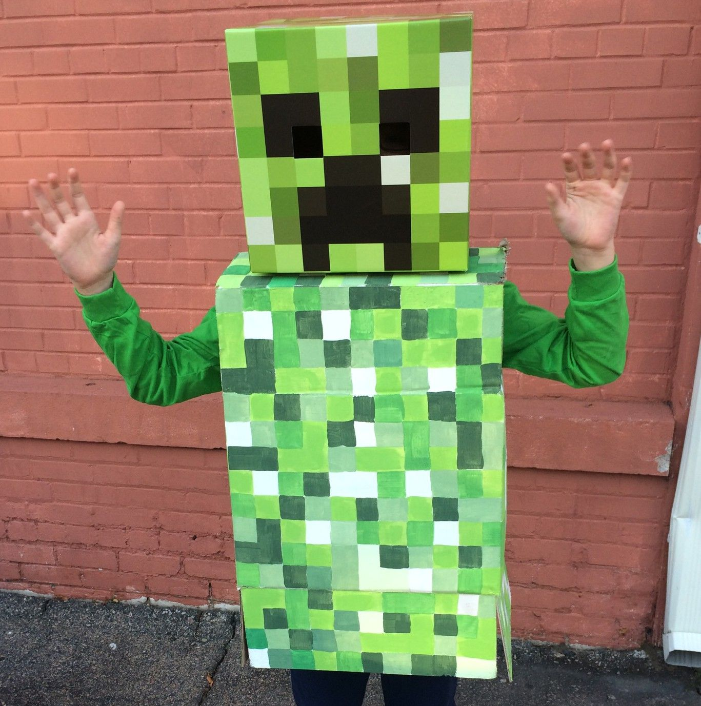 Inspired by the popular minecraft video game the minecraft costume is impressive enough to score some brownie points for the Halloween night. & minecraft-creeper-costume | Halloween Party | Pinterest | Creeper ...