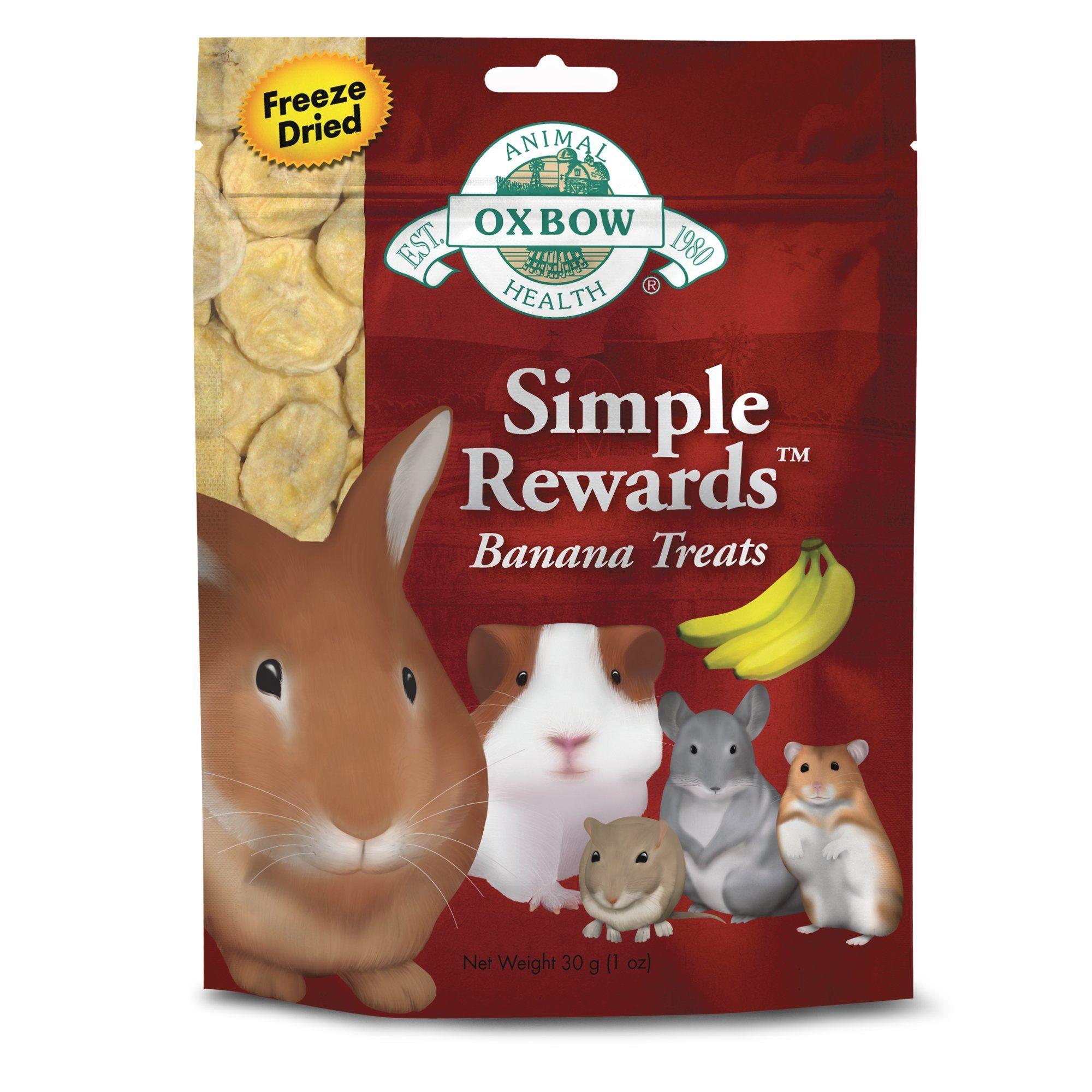 Oxbow Simple Rewards Banana Treat 1 Oz Pet Treats Banana Treats Pet Health