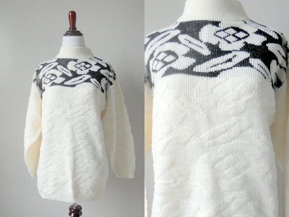 Vintage Justin Allen Chunky Sweater on Etsy, $20.00