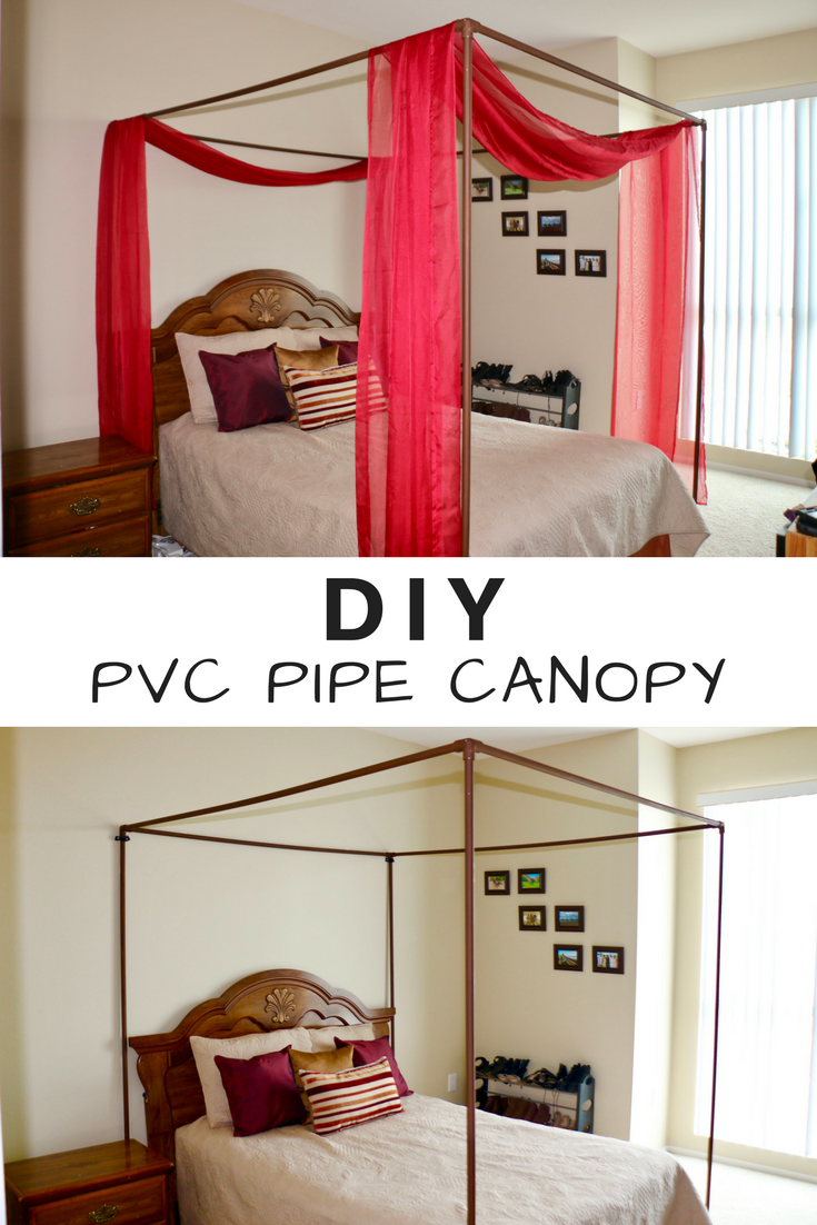 How to make a DIY canopy for your bed out of PVC pipes