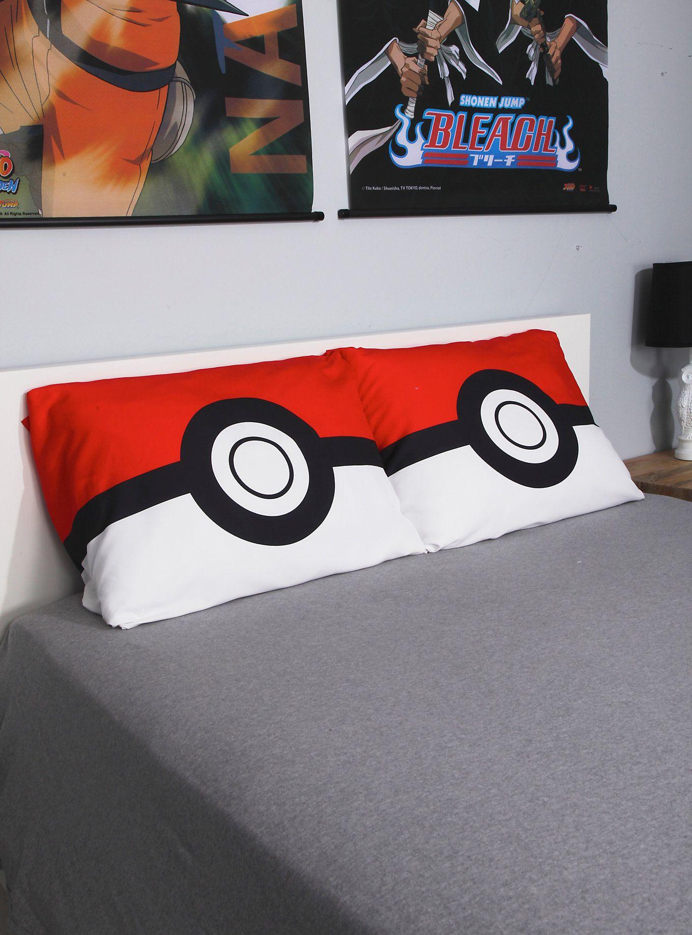 Pokemon Poke Ball Pillowcase Set Things Pokemon Bastelideen Kissen