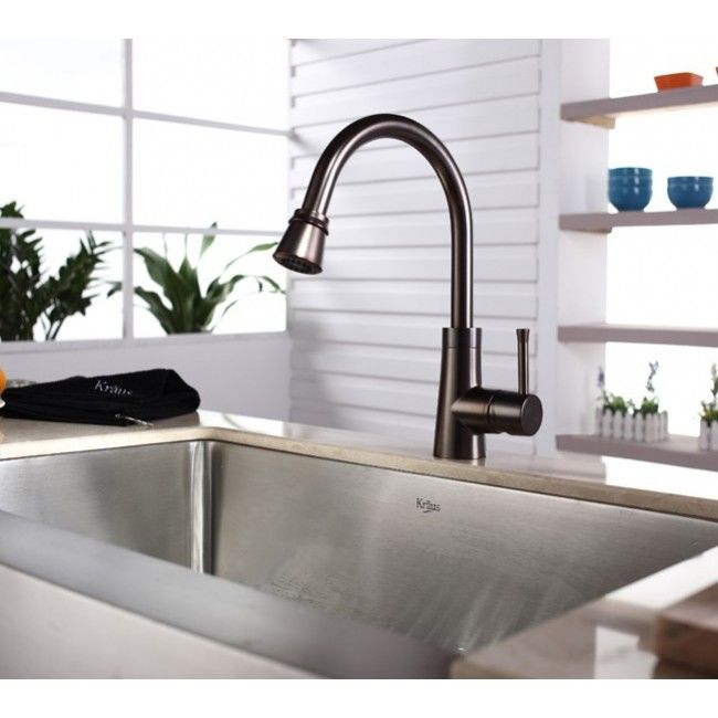 oiled bronze faucet with stainless steel sink - Google Search ...
