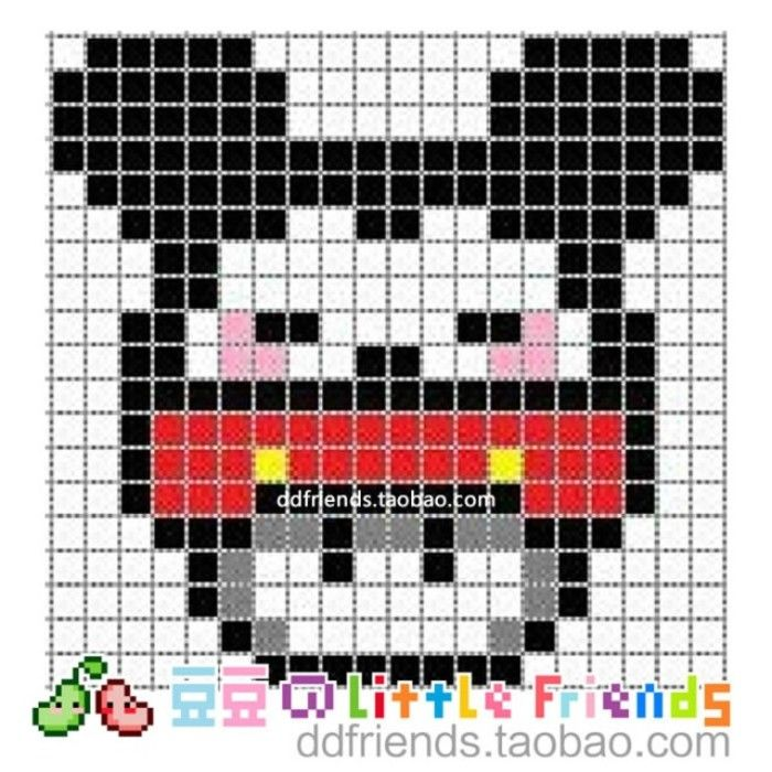 mickey mouse mushroom perler bead pattern perler beads pinterest perler beads bead. Black Bedroom Furniture Sets. Home Design Ideas