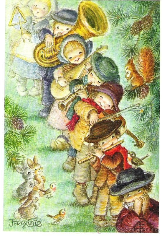 Antigua postal navide a ferrandiz nueva foto 1 - Postal navidena infantil ...
