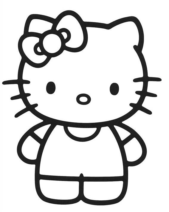 dibujos-hello-kitty-para-colorear (9) | Coloring book | Pinterest ...