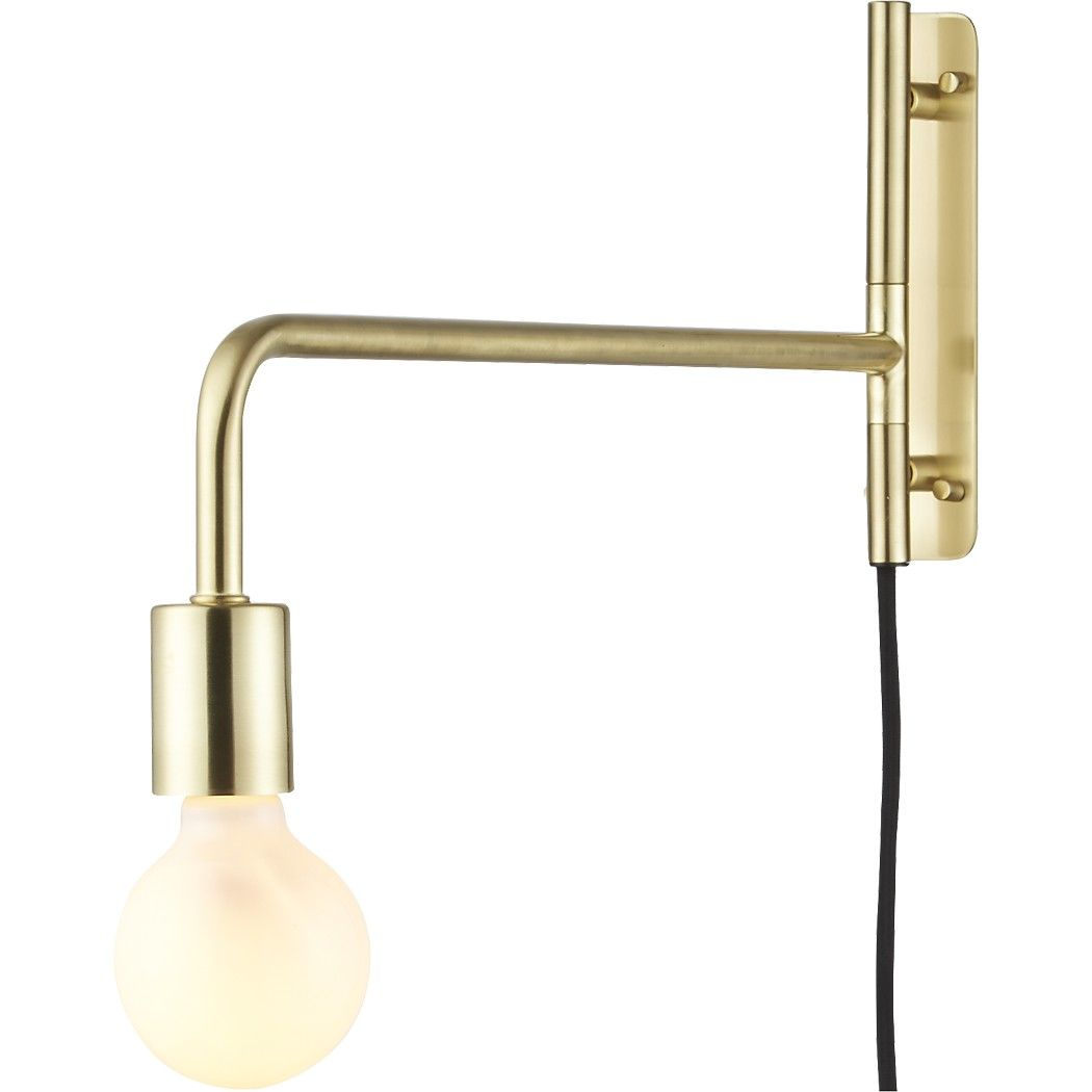 Swing Arm Brass Wall Sconce | Modern wall sconces, Sconces ... on Non Electric Wall Sconce Lights id=83114