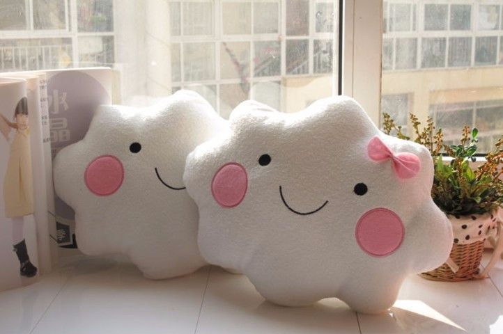 New smile cloud pillow cushions for baby kids couple sofa cushions pillows comfortable office - Hacer cojines sofa ...