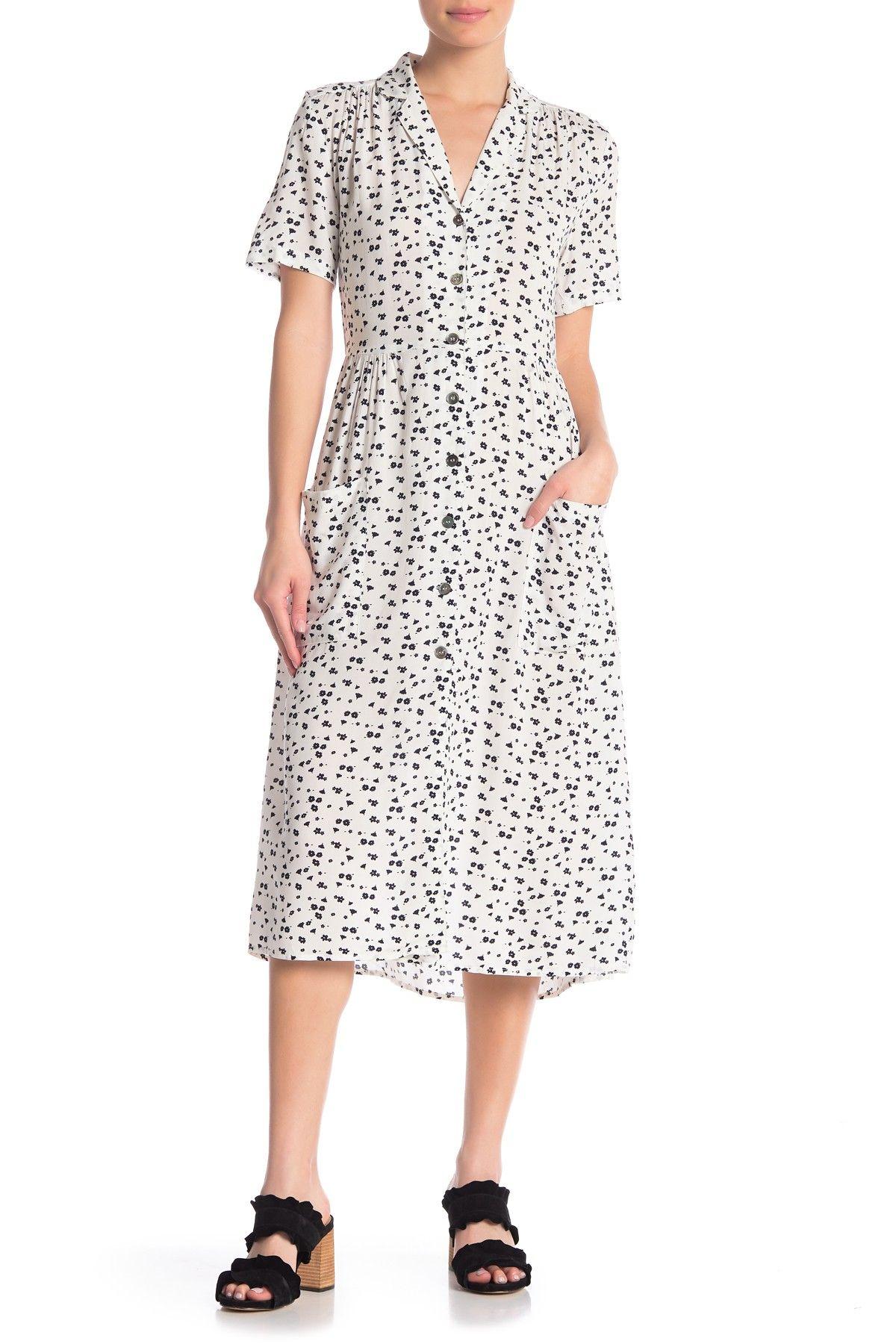 Cloth By Design Printed Collared Midi Dress Nordstrom Rack Dresses Midi Dress Clothes [ 1800 x 1200 Pixel ]