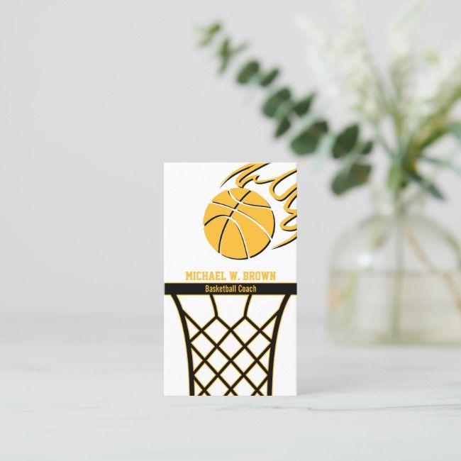 Basketball Team Coach Business Card