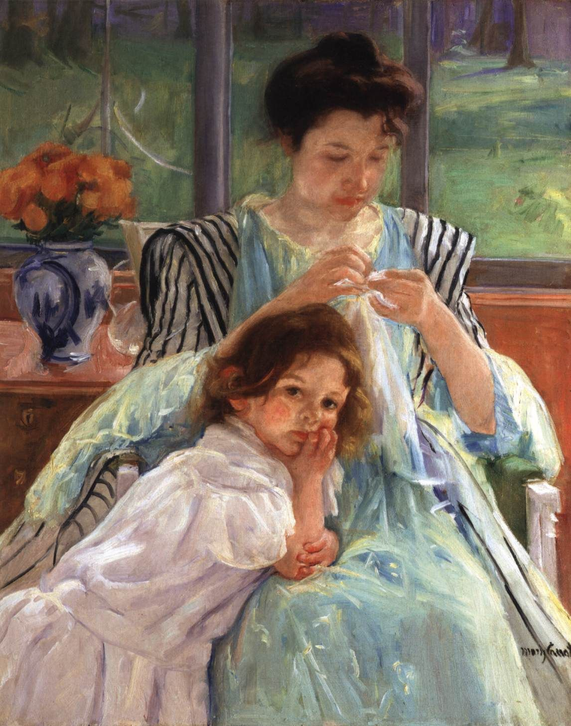 Young Mother Sewing 1900. Oil on canvas, 92 x 74 cm. Metropolitan Museum of Art, New York