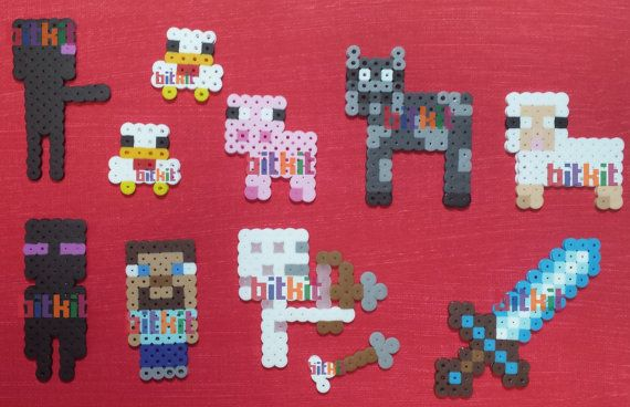 Minecraft Parody DIY Fuse Bead Kits and Figures (14x14