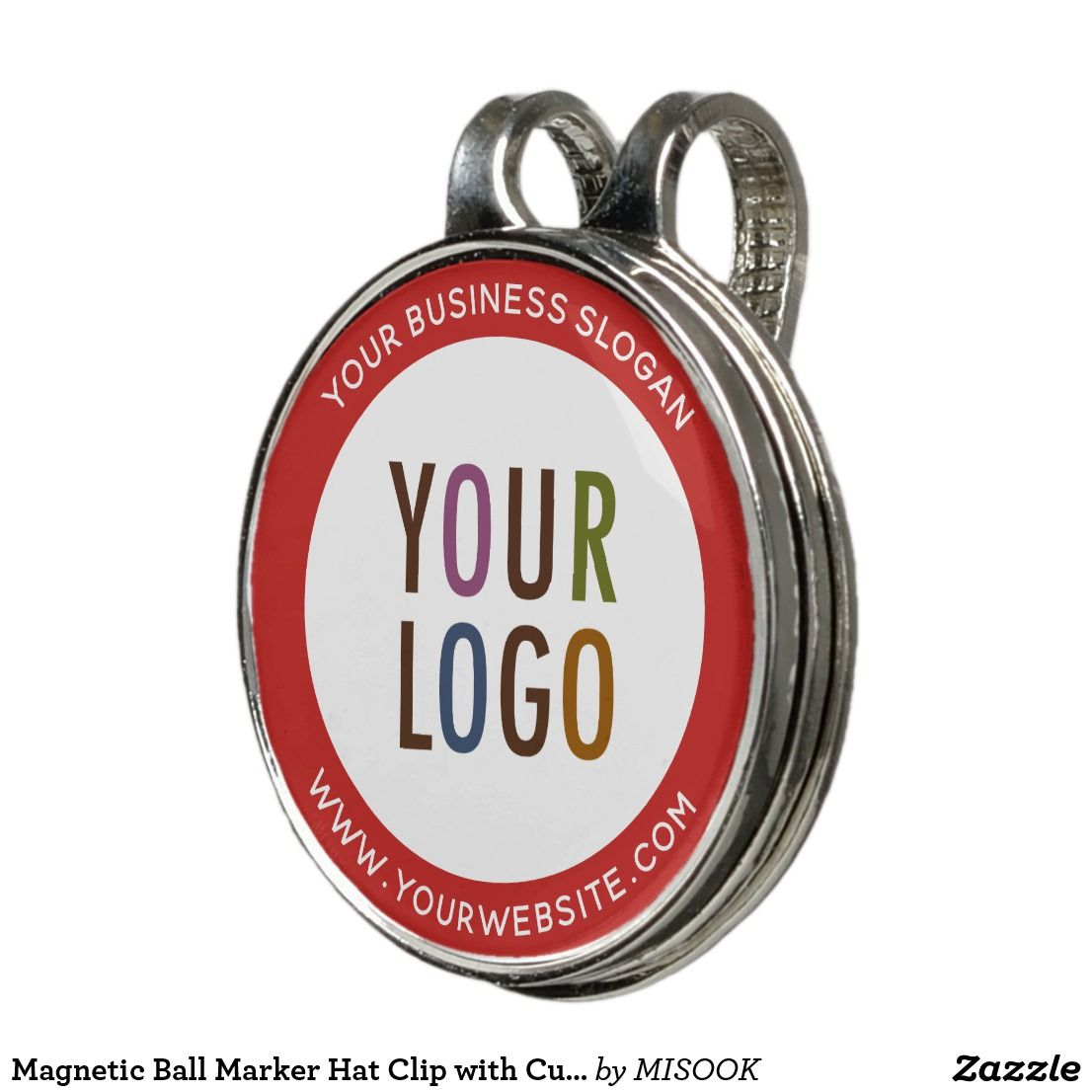 Magnetic Ball Marker Hat Clip With Custom Logo Zazzle Com Ball Markers Hat Clips Stylish Hats