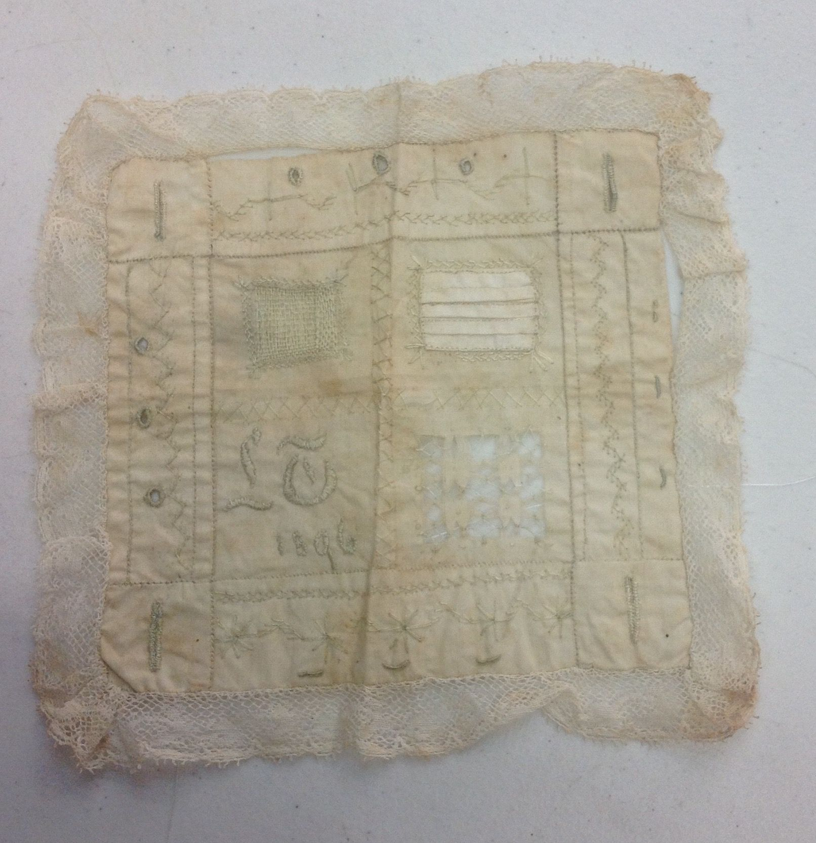 Sampler 1896 stitched by an ancestor of Ruth Spence
