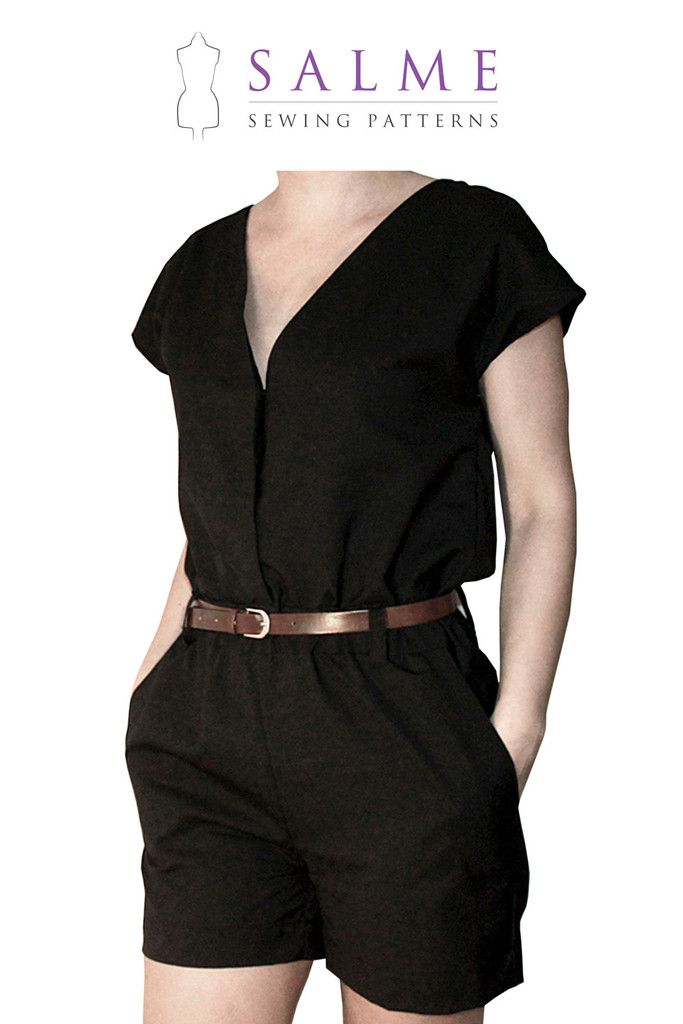 Digital Sewing Pattern - Playsuit for women adults PDF | sewing ...