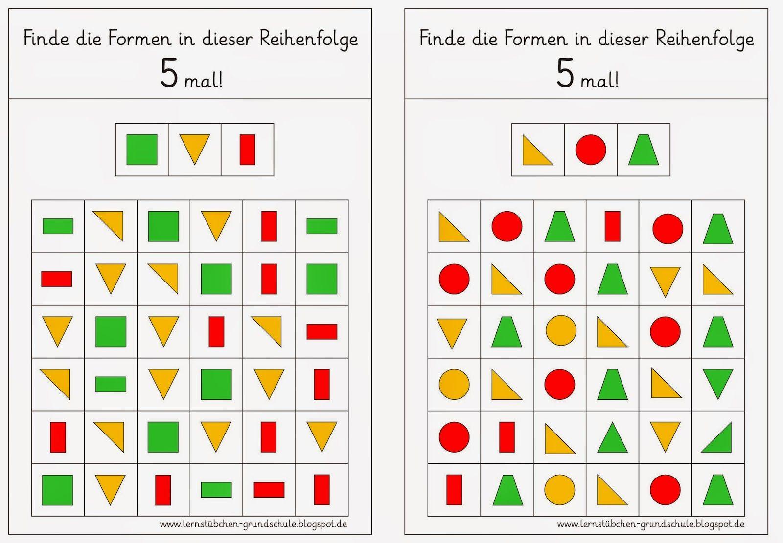 formenkombinationen finden 1 raum lage pinterest kindergarten preschool und math. Black Bedroom Furniture Sets. Home Design Ideas