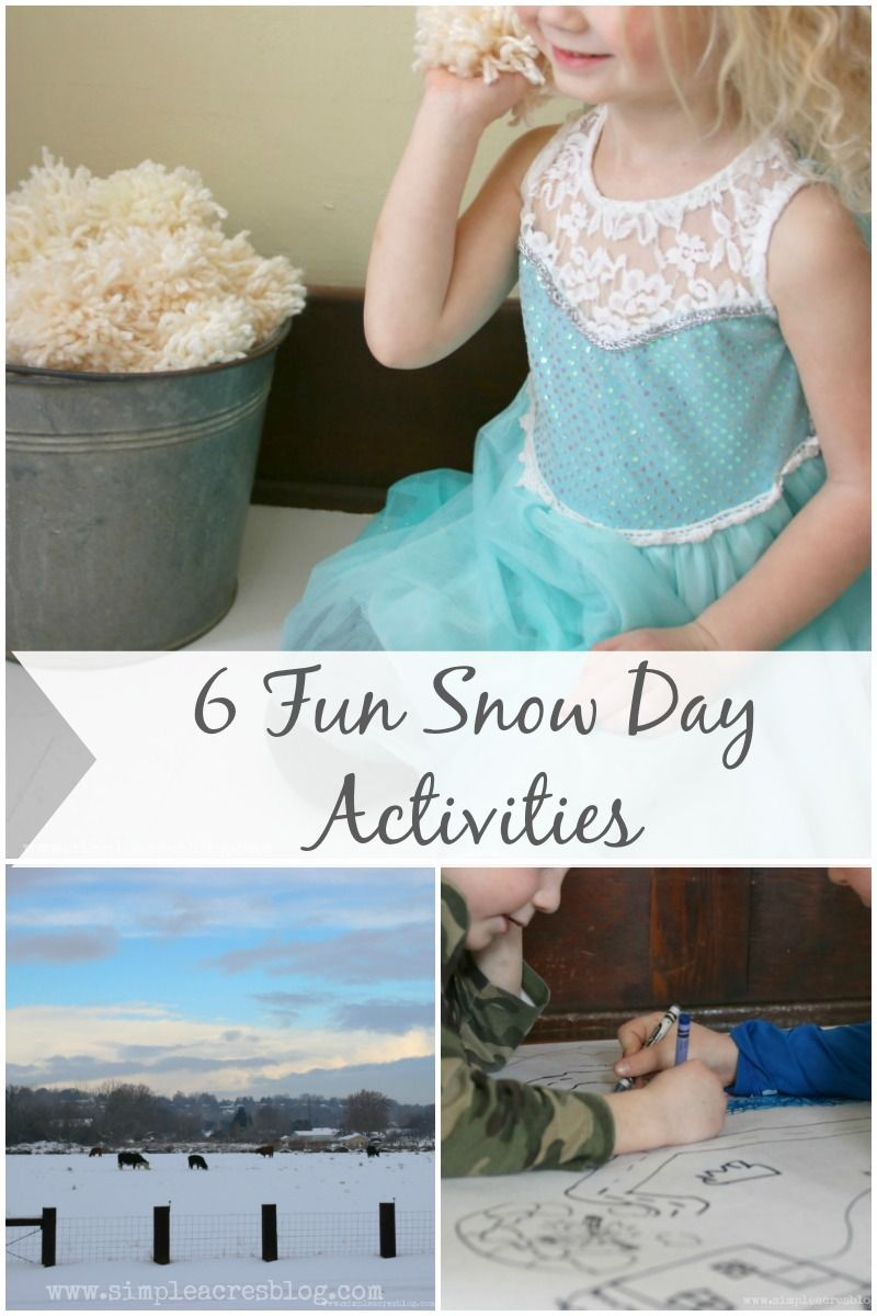9 Fun Snow Day Activities #ad