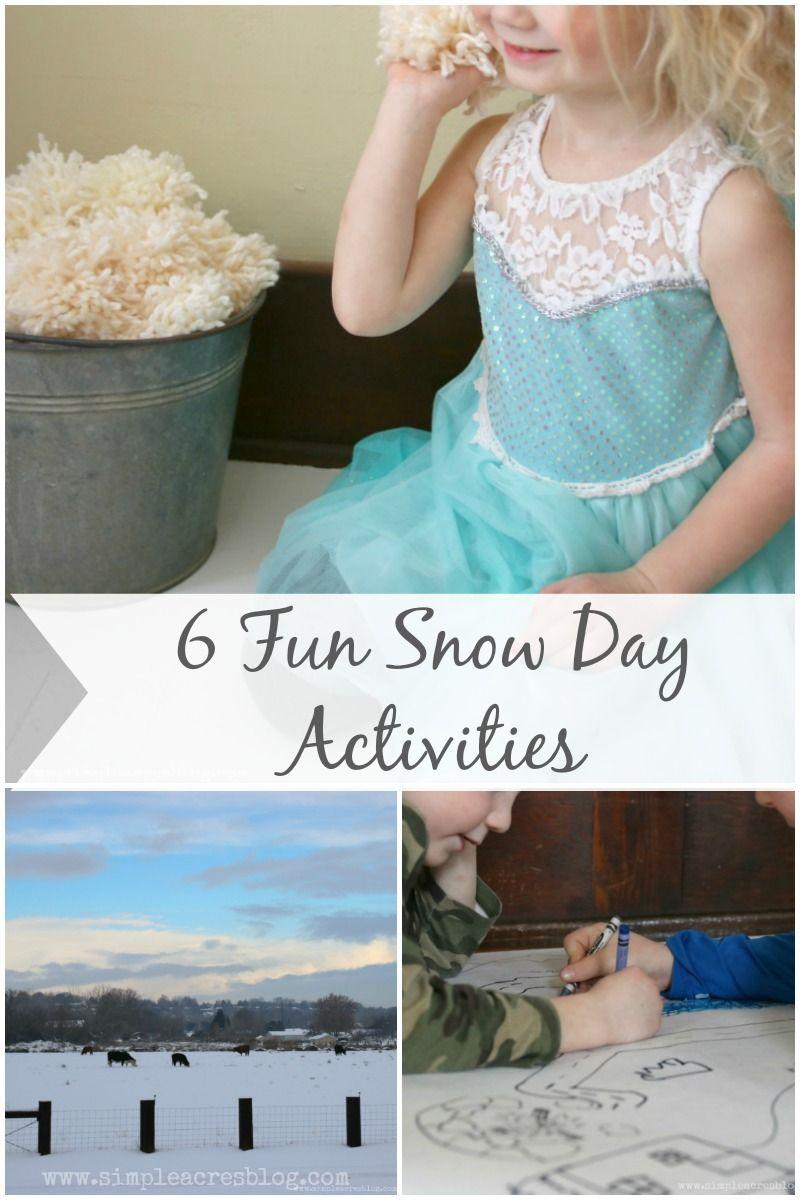 9 Fun Snow Day Activities #ad
