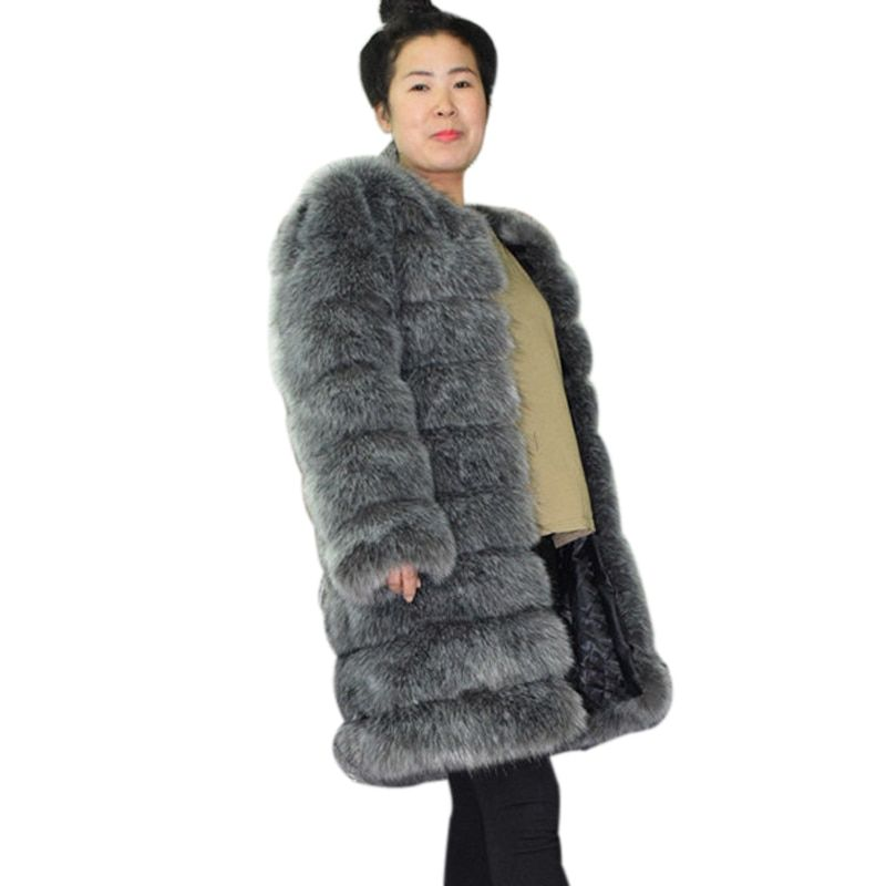 d62fd27645e ZADORIN 2018 New Furry Long Sleeve Faux Fur Coat Women Plus Size Thick Warm  Winter Overcoat Casual Faux Fur Jackets Abrigo Mujer    Click picture for  ...
