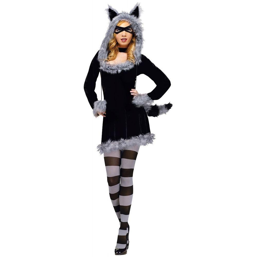 Sexy Raccoon Costume Adult Funny Halloween Fancy Dress  sc 1 st  Pinterest & Sexy Raccoon Costume Adult Funny Halloween Fancy Dress | Raccoon ...