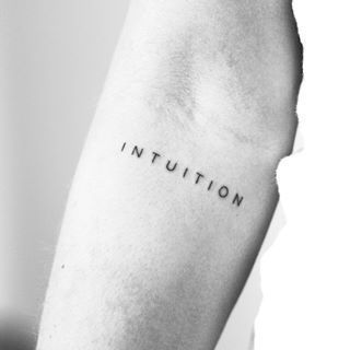 Photo of Intuition #Lettersing #Tattoo #Lettersingtattoo #Minimalismus –  INTUITION #Besc…