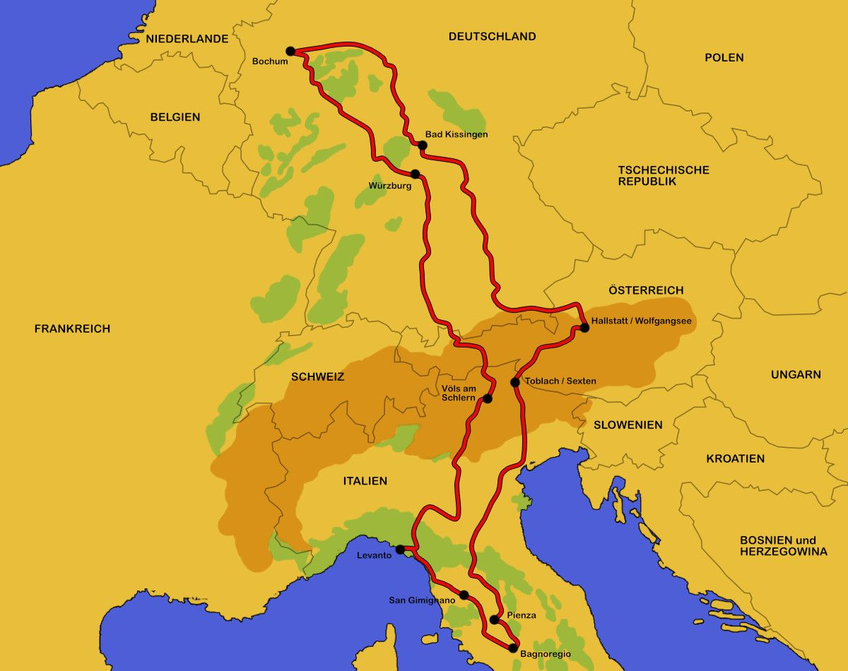 Wohnmobil Tour Italien Osterreich 2016 Italien Wohnmobil Touren
