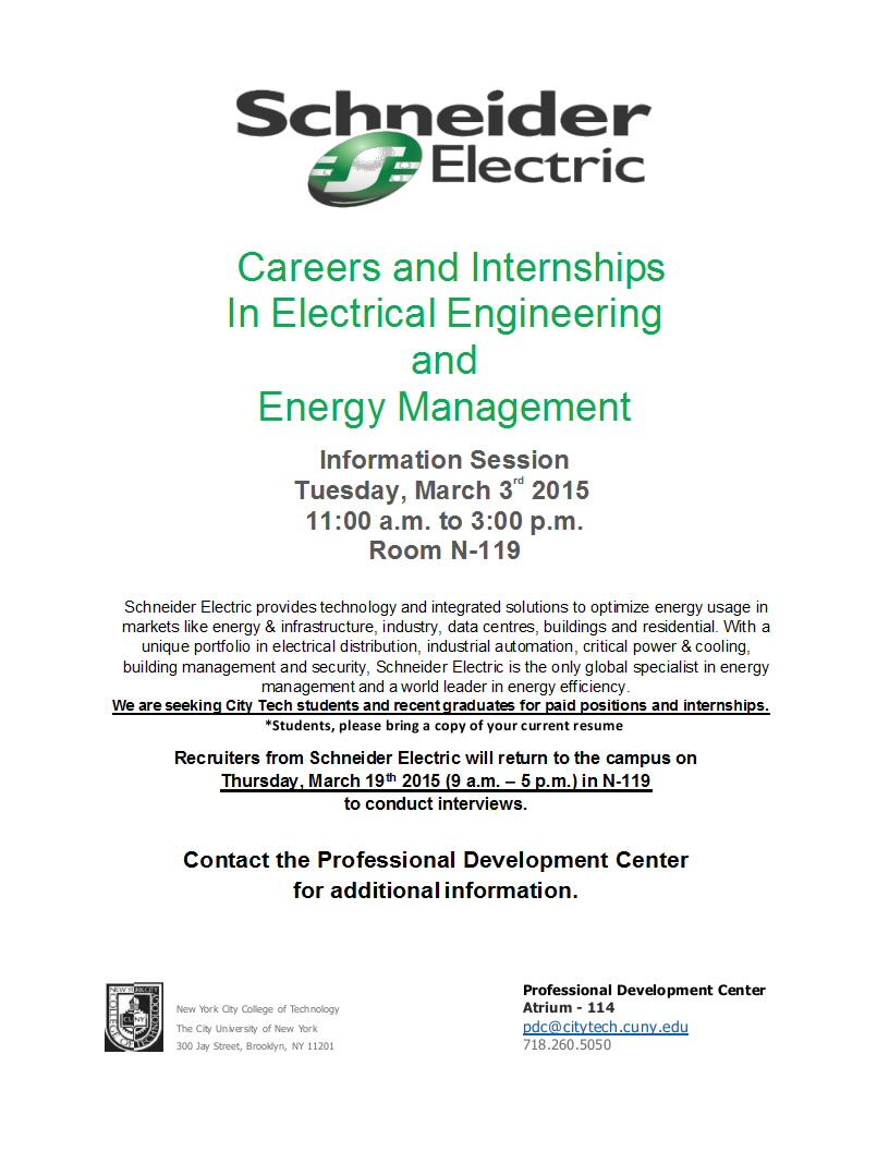 Information Session On Job Openings In Electrical Engineering And Energy Management Energy Management Job Opening Electrical Engineering