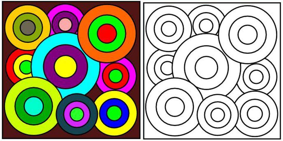 Delaunay coloriage art pinterest coloriage arts visuels and cercle - Coloriage delaunay ...