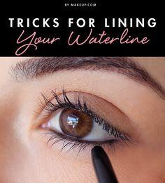tricks for lining your waterline  skin makeup eyeliner