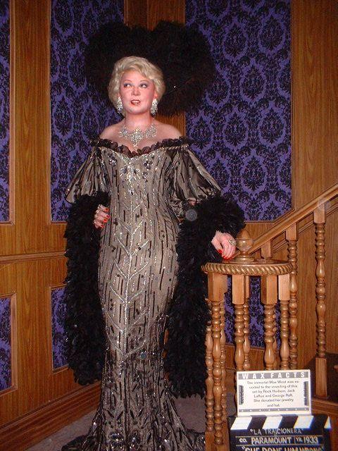 Mae West At Movieland Wax Museum Wax Museum Flapper Dress Fashion