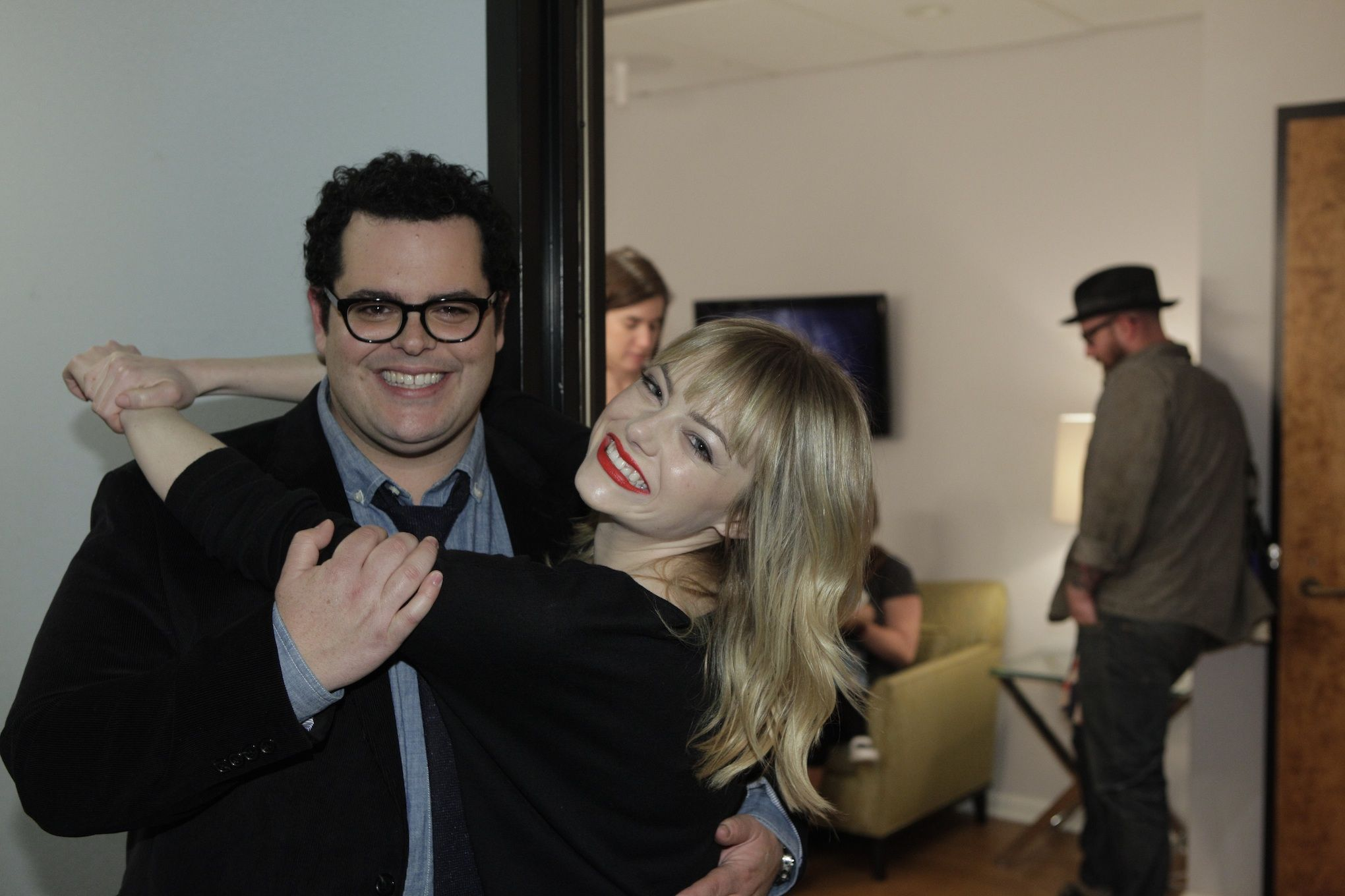 Josh Gad And Emma Stone On Jay Leno 1813 #1600Penn