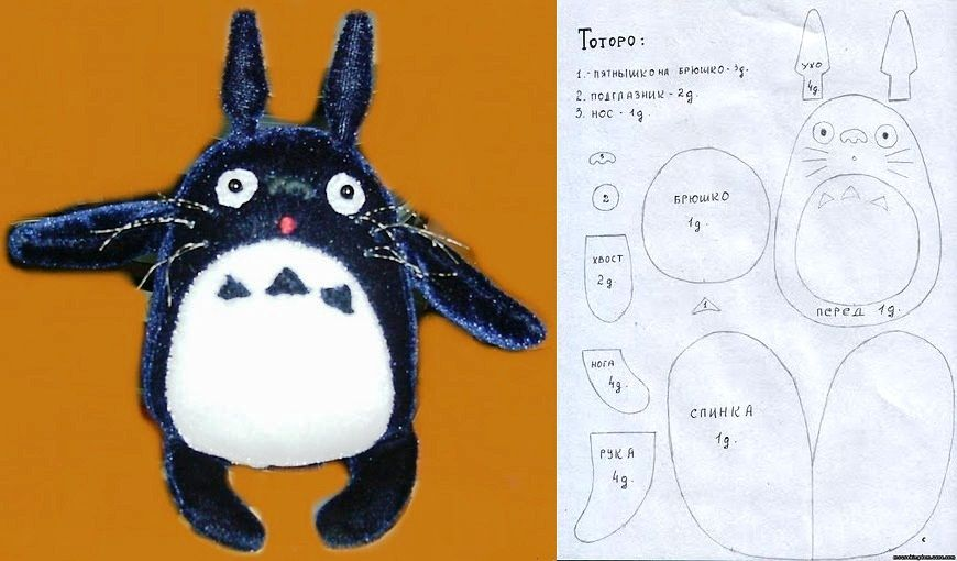Toy Totoro with Pattern