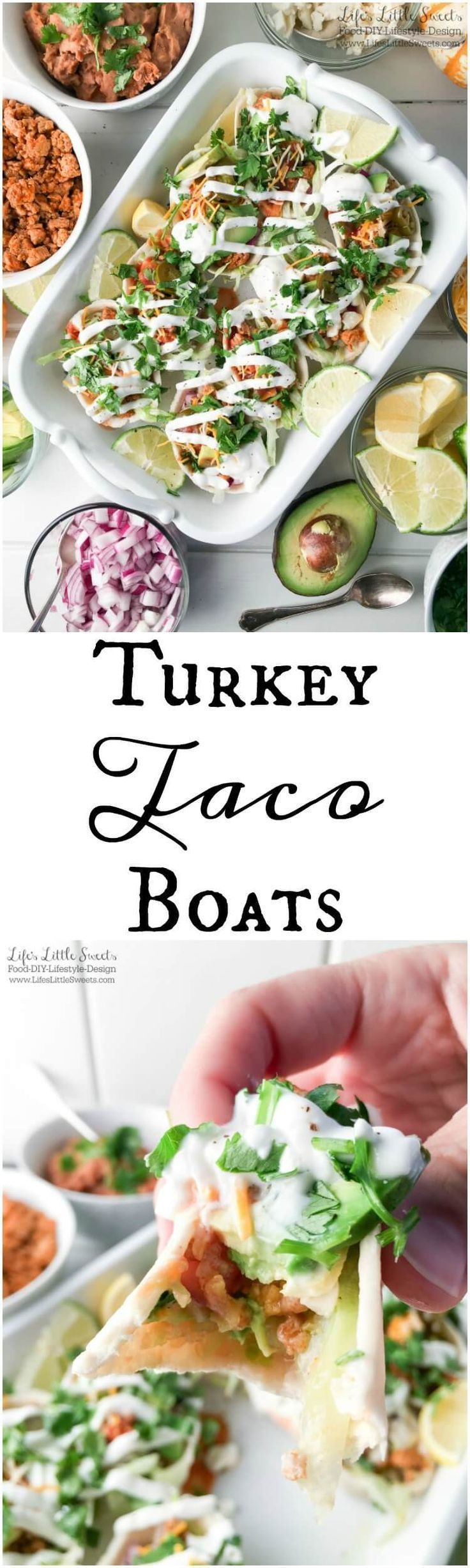 Turkey Taco Boats #groundturkeytacos Turkey Taco Boats are a healthier take on traditional tacos with lean ground turkey and fat free Greek yogurt instead of sour cream. They are made with Old El Paso tortilla boats & tacos for the perfect way to feed a crowd on Game Day! #AD #OEPGameDay #S #groundturkeytacos Turkey Taco Boats #groundturkeytacos Turkey Taco Boats are a healthier take on traditional tacos with lean ground turkey and fat free Greek yogurt instead of sour cream. They are made with #groundturkeytacos