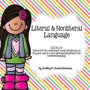 Literal And Nonliteral Lanuage Rl34 Anchor Charts Language And
