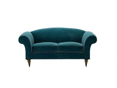 Yanna Two Seat Sofa In Deep Turquoise Pure Cotton Matt Velvet Http