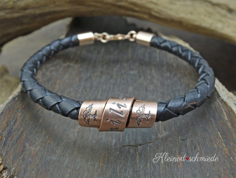 Lederarmband Herrenarmband Armband Unixex Gravur Kupfer Handgestempelt Personalisiert Geschenk Mann Frau Hochzeitstag Family Tree Leather Bracelet Leather Mens Gifts