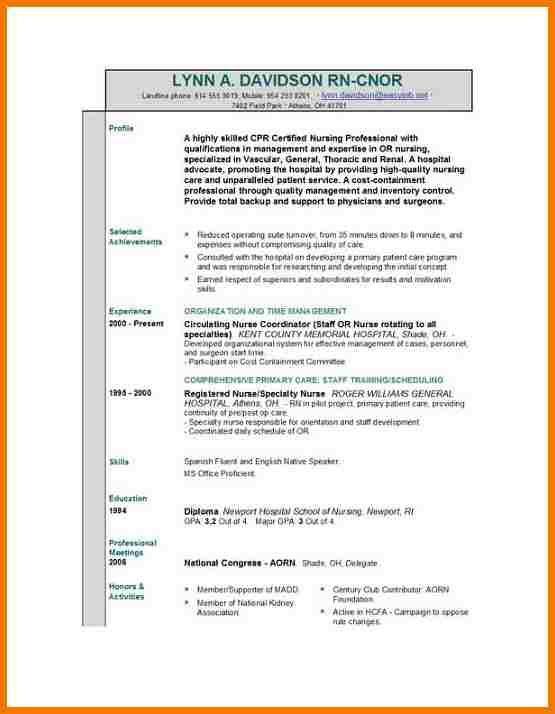 sample format for nurses bestsellerbookdb https encrypted tbntatic - circulating nurse sample resume