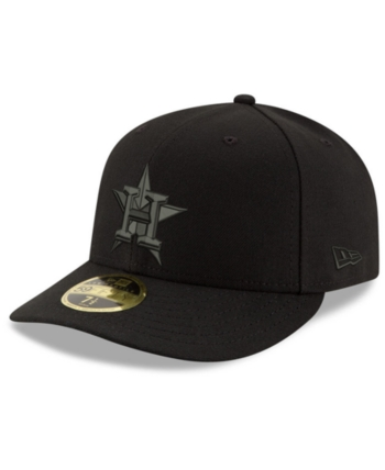 online store 6a385 cd71b New Era Houston Astros Triple Black Low Profile 59FIFTY Fitted Cap - Black  7 3 4