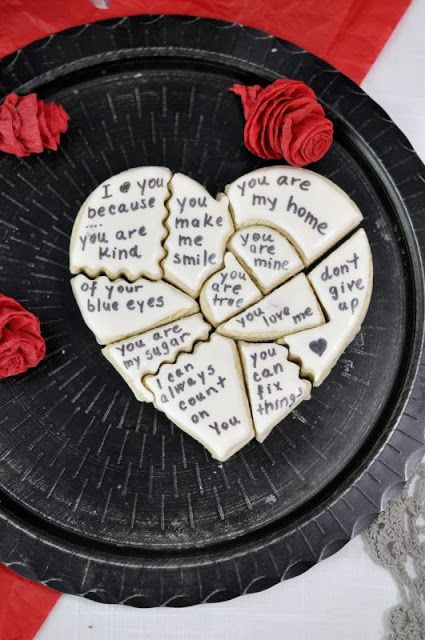 I Love You Because Cookie Puzzle | Haniela's | Recipes, Cookie & Cake Decorating Tutorials