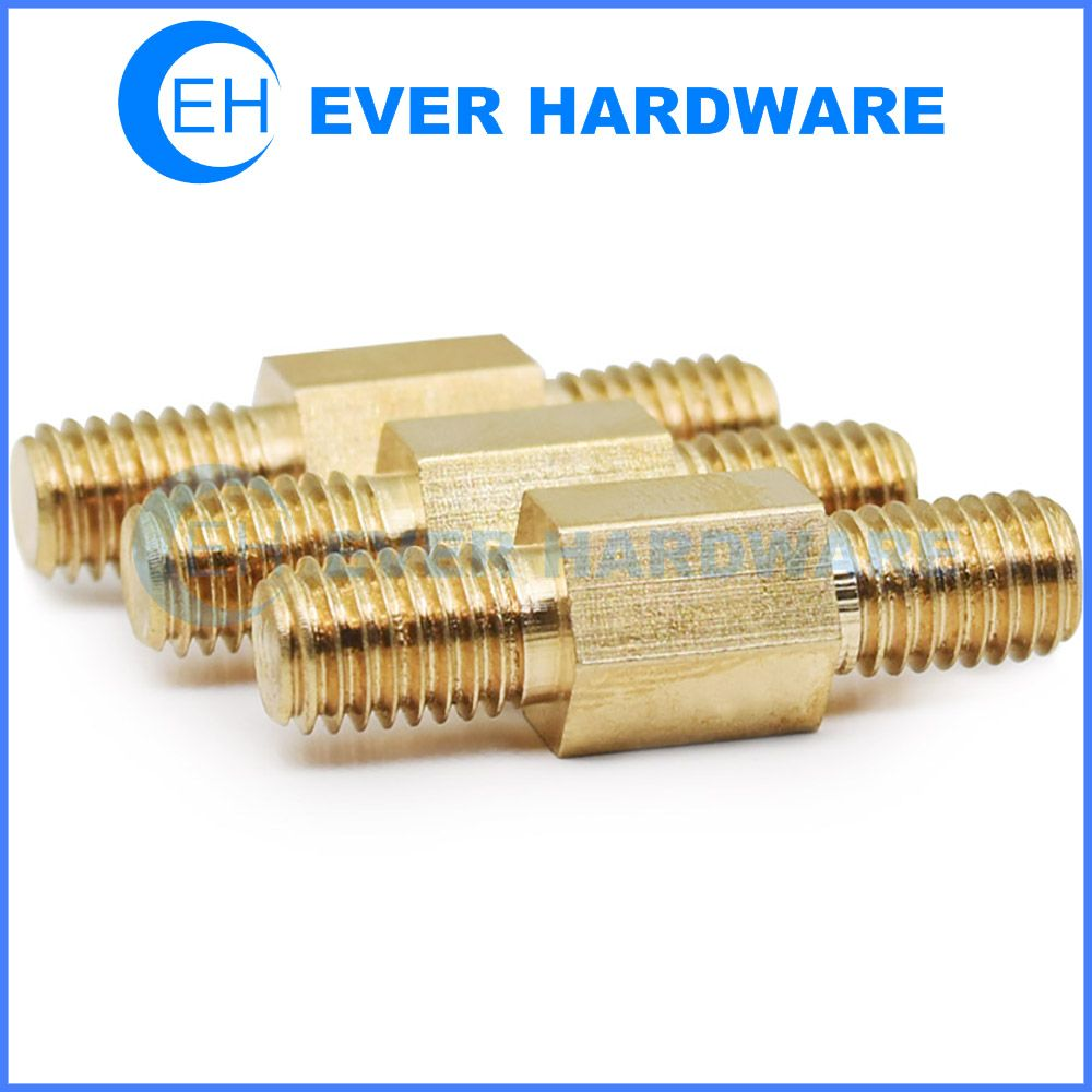 M8 Threaded Standoff Metric Mix Double Male External Brass Copper Hex Brass Copper Standoff Metric