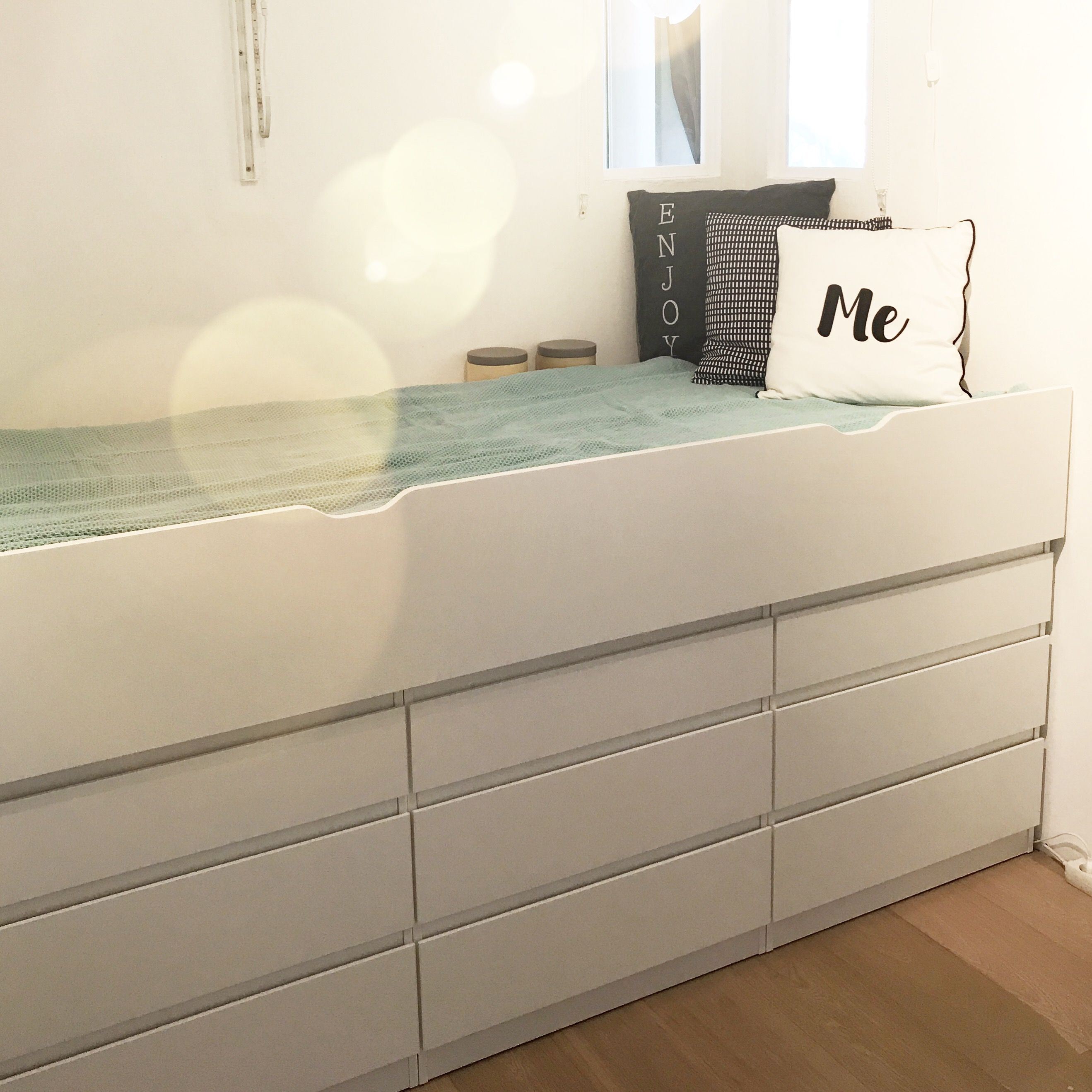 Ikea Hack Made By Kreativkafer 3 Kullen Kommoden Unterbettkasten Flaxa Alles Von Ikea Hinten Unterbettkasten Bett Mobel Schlafzimmerideen Fur Kleine Raume