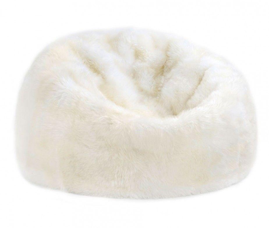 Fibre By Auskin Sheepskin Bean Bag Chair Colors 3 Unfilled Bean