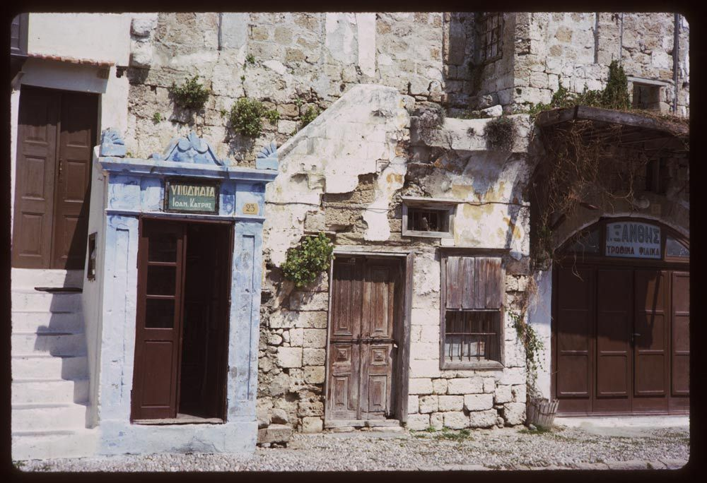 Old Town Rhodes Greece 1965, photo by Charles W. Cushman