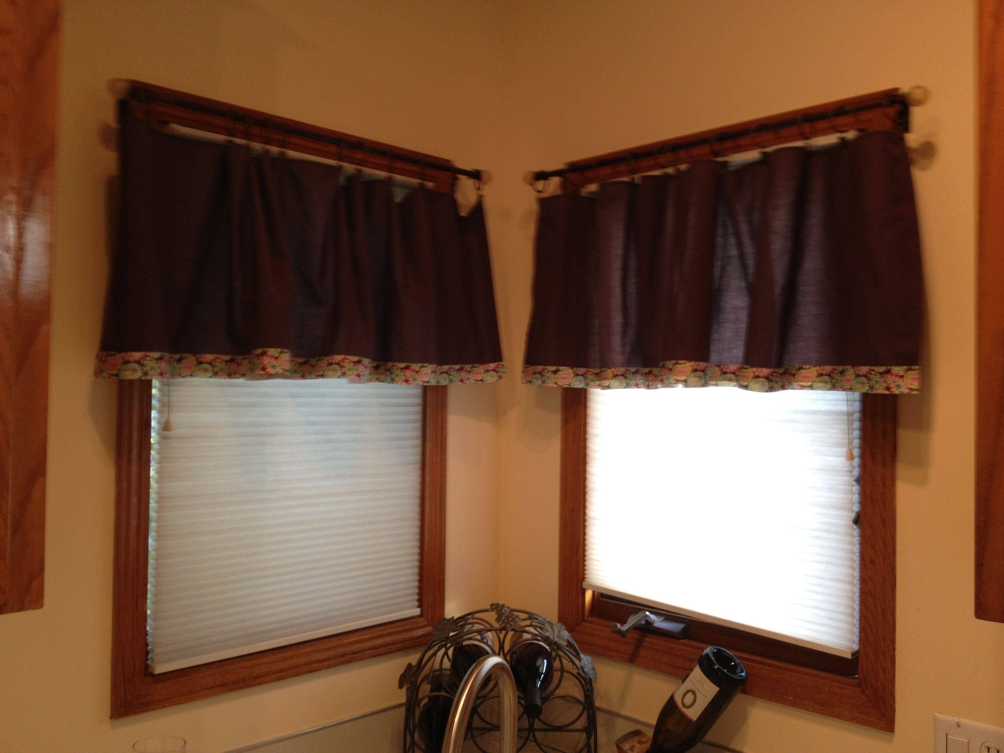 No Sew Curtains Made From Goodwill Bed Skirt Ribbon Iron On Hemming Tape And Curtain Hoops No Sew Curtains Curtains Bedskirt