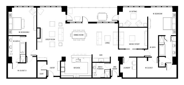 High Rise Condo Floor Plans Live At The Landmark Condo Floor Plans Floor Plans How To Plan