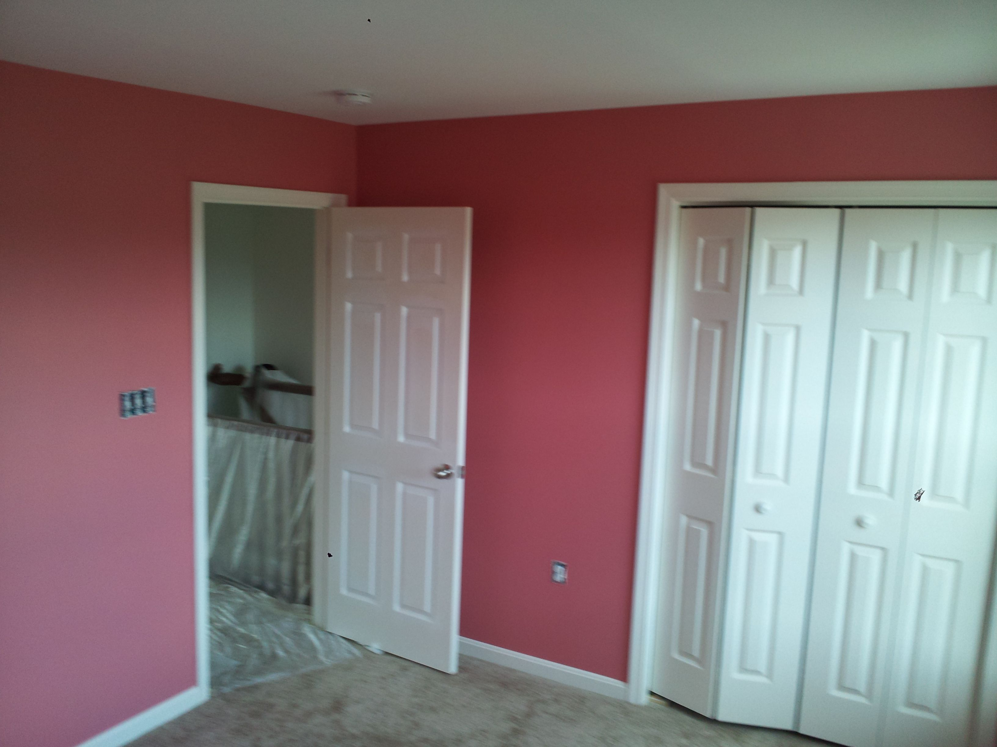 Memorable rose sw by sherwin williams applied