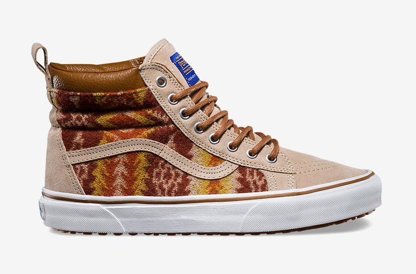 Vans x Pendleton — Sk8-Hi MTE — zateplené kotníkové boty s kožíškem ... 9424203fea8