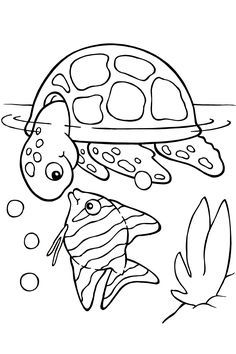 Top 15 Free Printable Sea Animals Coloring Pages Online | Pinterest ...
